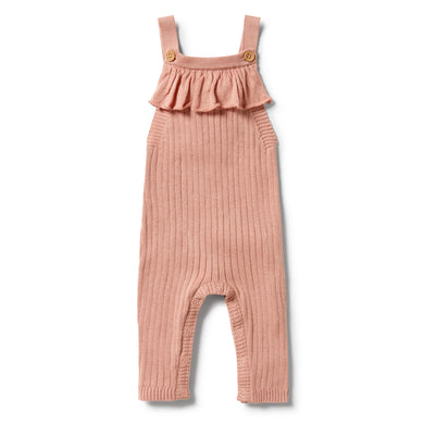 Wilson & Frenchy - Knitted Rib Ruffle Overall - Dusk