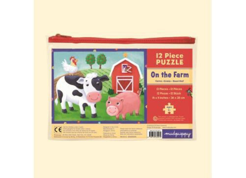 Mudpuppy 12pc Pouch Puzzle - On the Farm
