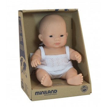 Miniland - Baby Doll - Asian Girl 21cm