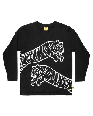 Band of Boys - Long Sleeve Tee - Leaping Tiger - Black