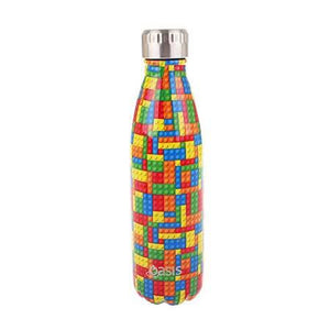 Oasis - Insulated Stainless Steel Kids Drink Bottle - Bricks