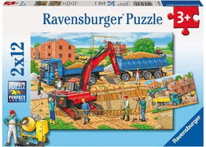 Ravensburger Puzzle 2x12pc Busy Construction Site