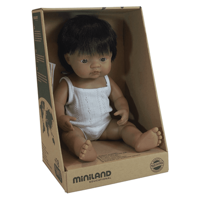 Miniland - Baby Doll - Hispanic Boy 38cm