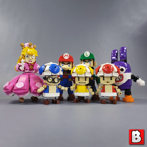 Mario Bundle - Luigi, Peachette, Nabbit, and Toads