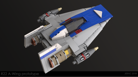 R22 A-wing Starfighter - Minifig Scale
