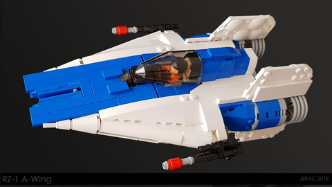 RZ-1 A-wing Starfighter - Minifig Scale