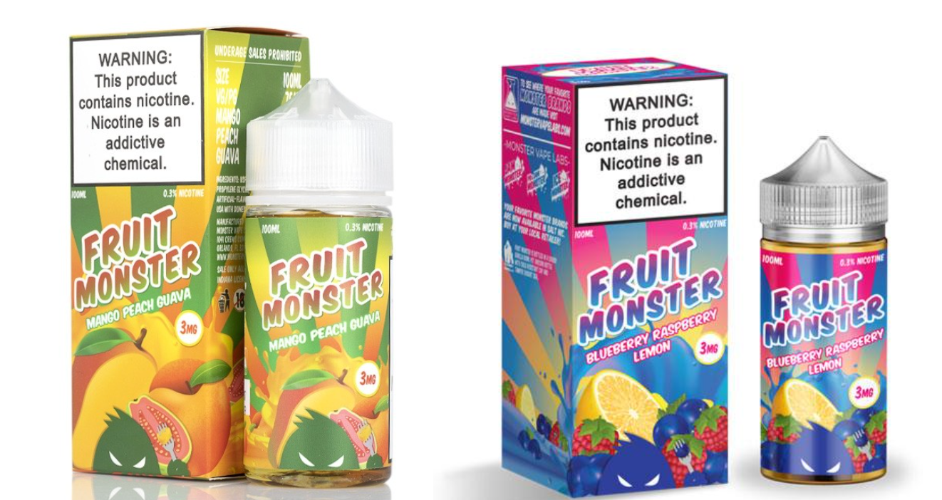 fruit monster, blue raspberry, mango, vape juice, eliquid