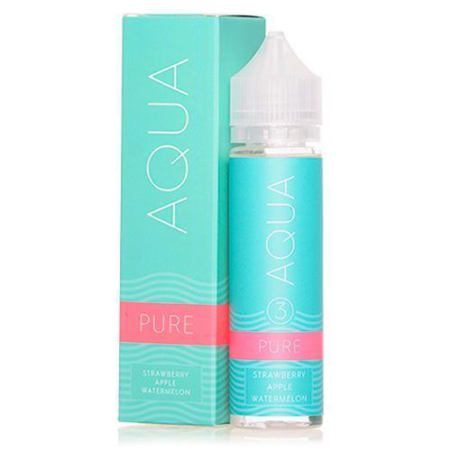aqua, pure, strawberry, apple, vape juice