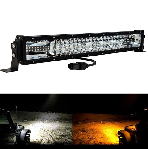 "OZ DL-Series 22"" Dual Color-Changing White/Amber + Strobe LED Light Bar - Hellfire Offroad Lighting"
