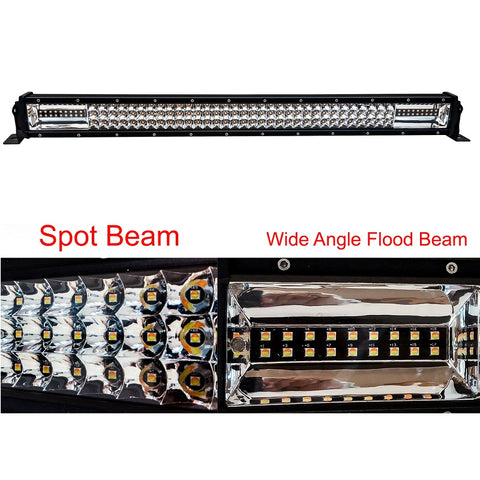 "OZ DL-Series 32"" Dual Color-Changing White/Amber + Strobe LED Light Bar - Hellfire Offroad Lighting"