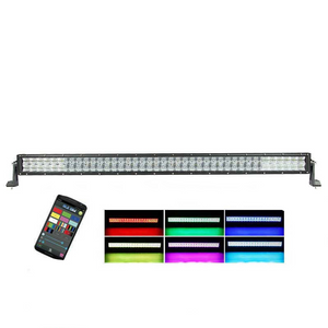 "Auxbeam 42"" Color Changing/RGB Combo Straight LED Light Bar 240w (5d Projector Lens) - Hellfire Offroad Lighting"