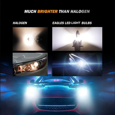 Image of H11/H9/H8 Eagle Series LED light Bulbs - 5000LM / 6500K