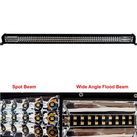 "OZ DL-Series 42"" Dual Color-Changing White/Amber + Strobe LED Light Bar - Hellfire Offroad Lighting"
