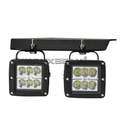 "(2PCS/SET) 9.5"" LED FOG LIGHT MOUNT BRACKETS FOR 10~15 FORD F-150 RAPTOR - Hellfire Offroad Lighting"