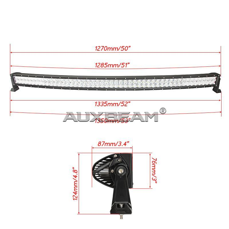 "Auxbeam 50"" 288w CREE Curved Combo LED Light Bar (5d Projector Lens) - Hellfire Offroad Lighting"