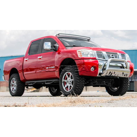 "Image of (2PCS/SET) UPPER WINDSHIELD 50"" STRAIGHT LIGHT BAR MOUNTING BRACKET FOR 04-14 NISSAN TITAN - Hellfire Offroad Lighting"