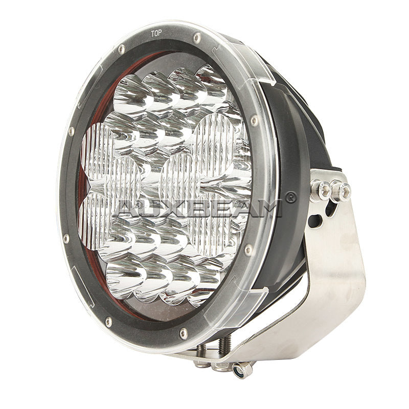 "Auxbeam  9"" 150w CREE Round Spot Beam Off Road LED Driving Light (Spot & Flood Mask) PAIR - Hellfire Offroad Lighting"