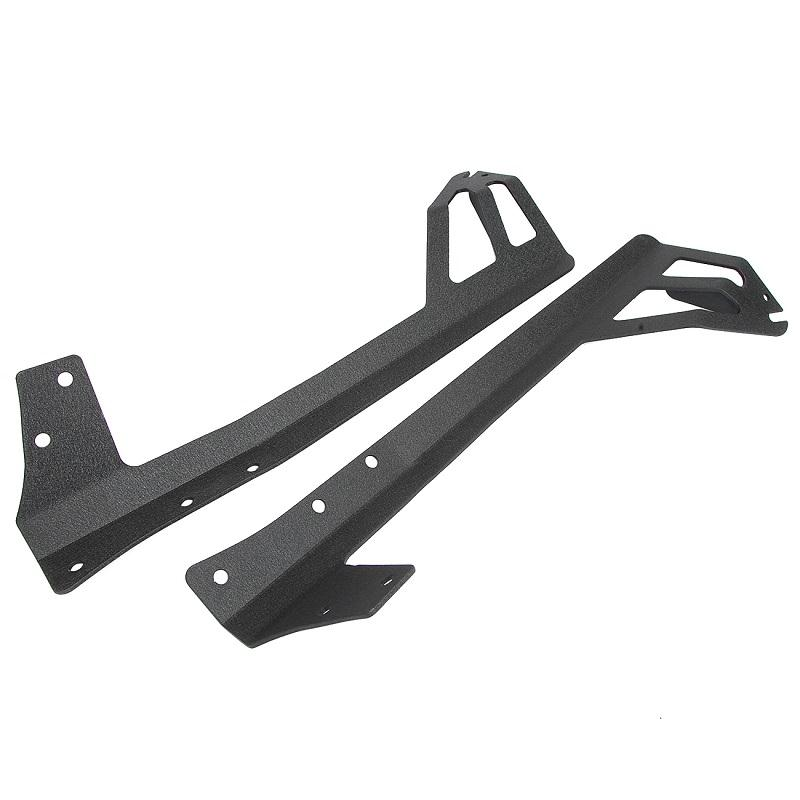 "(2PCS/SET) WINDSHIELD MOUNTING BRACKET 50"" STRAIGHT LIGHT BAR FOR 07-15 JEEP WRANGLER - Hellfire Offroad Lighting"