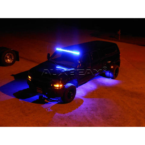"Auxbeam 22"" Color Changing/RGB Combo Straight LED Light Bar 120w (5d Projector Lens) - Hellfire Offroad Lighting"