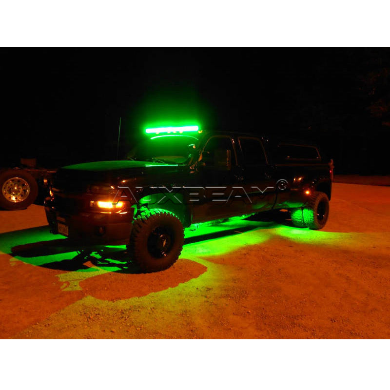 "Auxbeam 52"" Color Changing/RGB Combo Straight LED Light Bar 300w (5d Projector Lens) - Hellfire Offroad Lighting"