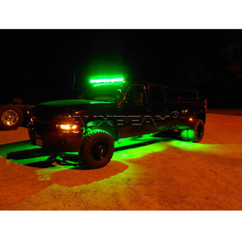 "Auxbeam 22"" Color Changing/RGB Combo Curved LED Light Bar 120w (5d Projector Lens) - Hellfire Offroad Lighting"