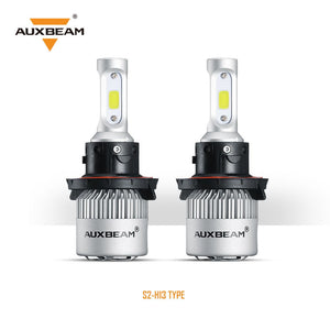 H13/9008 S2 Series LED light Bulbs - 6500K/8000LM