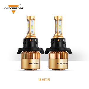 (2pcs/set) H13 S3 Series LED Headlight Bulbs - 6500K 8000LM