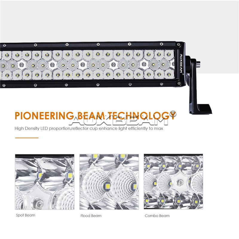 "Auxbeam Honeycomb Series 32"" 120w Curved Combo Beam Triple-Row LED Light Bar - Hellfire Offroad Lighting"