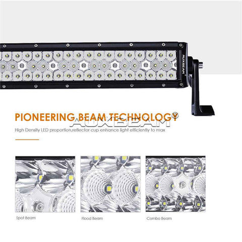 "Auxbeam Honeycomb Series 50"" 192w Straight Combo Beam Triple-Row LED Light Bar - Hellfire Offroad Lighting"