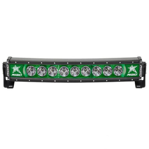 "Image of RIGID Radiance+ Curved 20"" Green Back-Light - Hellfire Offroad Lighting"