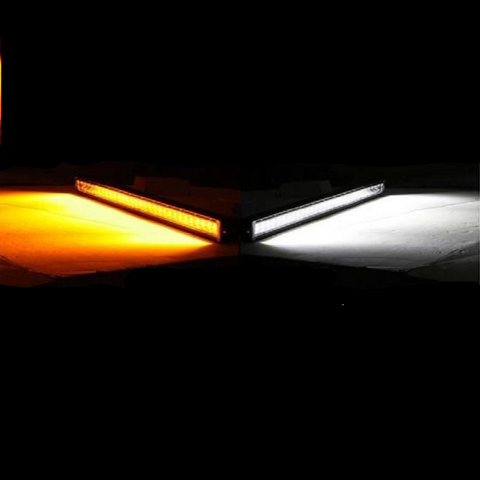 "OZ DL-Series 52"" Dual Color-Changing White/Amber + Strobe LED Light Bar - Hellfire Offroad Lighting"