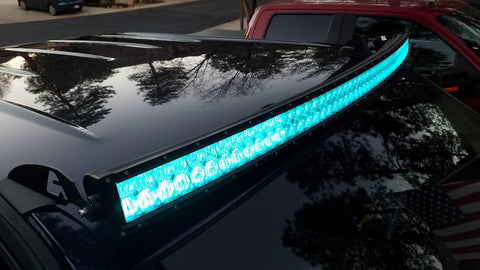 "Image of Auxbeam 52"" Color Changing/RGB Combo Straight LED Light Bar 300w (5d Projector Lens) - Hellfire Offroad Lighting"