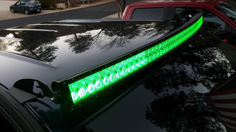 "Image of Auxbeam 52"" Color Changing/RGB Combo Curved LED Light Bar 300w (5d Projector Lens) - Hellfire Offroad Lighting"