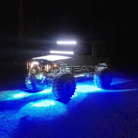 Image of Auxbeam (8pcs/Set) Color Morph LED Rock Light RGB Light With Bluetooth Control - Hellfire Offroad Lighting