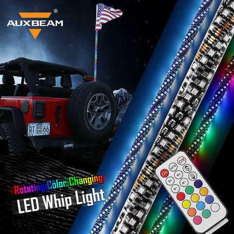 Image of Auxbeam LED Color-Changing Whip  (Remote/RGB) - Hellfire Offroad Lighting