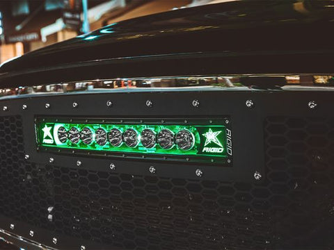 "Image of RIGID Radiance+ Curved 50"" Green Back-Light - Hellfire Offroad Lighting"