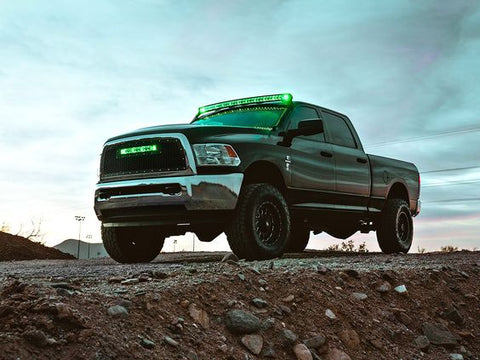 "Image of RIGID Radiance+ Curved 40"" Green Back-Light - Hellfire Offroad Lighting"
