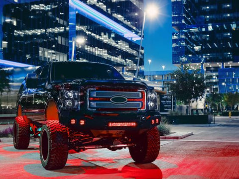 RIGID Radiance Pods - Red (pair) - Hellfire Offroad Lighting