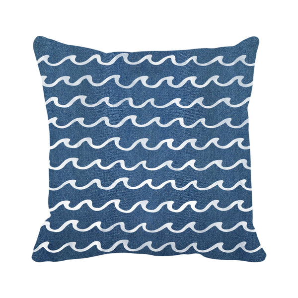 Doodle Waves (Denim)