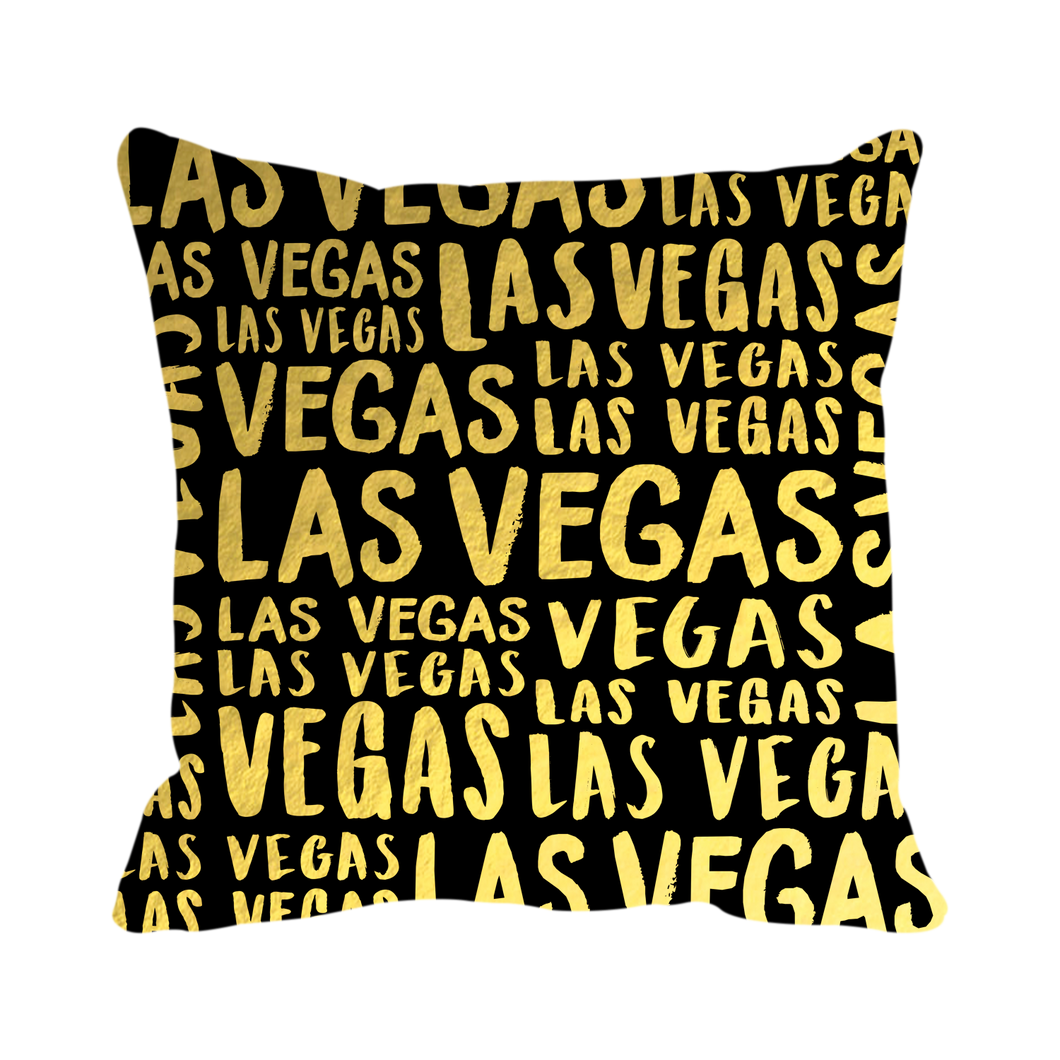 Las Vegas Collage (Black/Gold)
