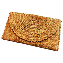 Load image into Gallery viewer, Straw Rattan Clutch (Dark Tan)