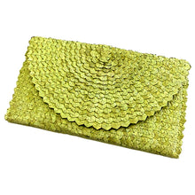 Load image into Gallery viewer, Straw Rattan Clutch (Green)