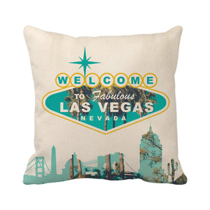 Welcome To Fabulous Las Vegas Nevada Sign (Blue)