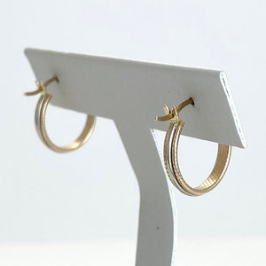 10K Yellow Gold Earring with White Gold Detailing