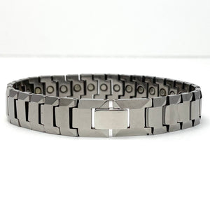 Men's Silver Tungsten Magnetic Therapy Bracelet