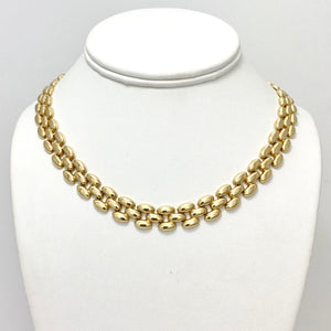 18K Yellow Gold Design Necklace with Safety Lock