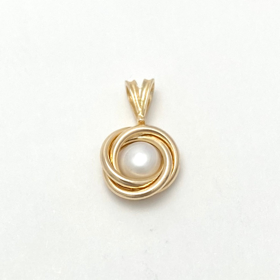 10K Yellow Gold Cultured Pearl Pendant