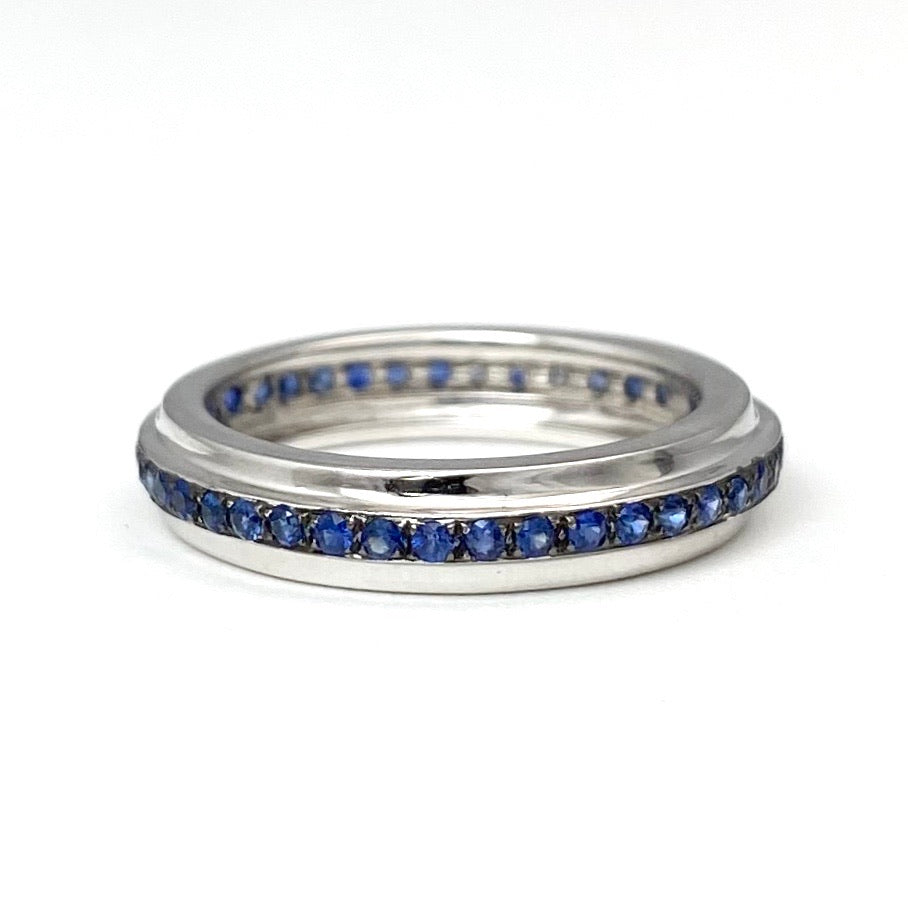 18K White Gold Sapphire Eternity Ring or Anniversary Ring