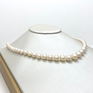14K Gold Necklace with Cream Cultured Pearls