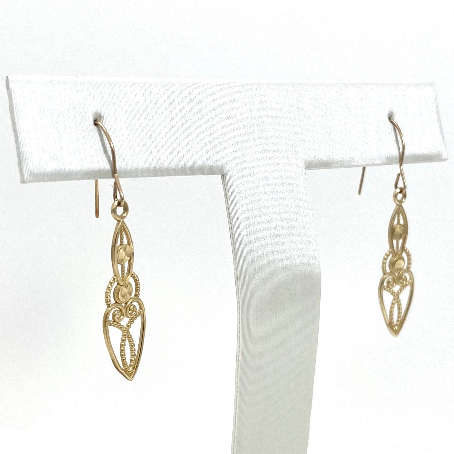 14k Yellow Gold Chandelier Style Hanging Earrings
